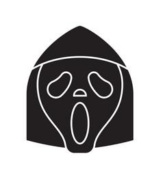 Grim reaper emoji black concept icon vector