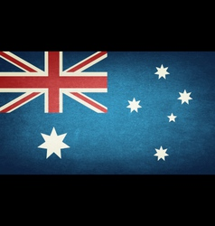 Grunge Flag Of Australia vector image