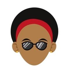 Head of woman icon vector