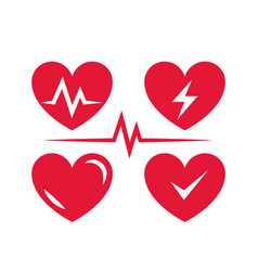heart icon for medical clinic cardio icons set vector image