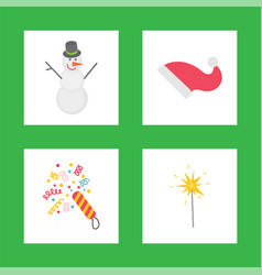holiday decorations for celebrating new year icons vector image
