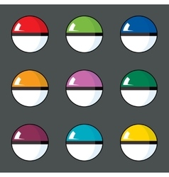 Icon set of color balls vector