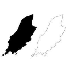 isle of man map vector image