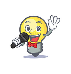 Karaoke light bulb character cartoon vector