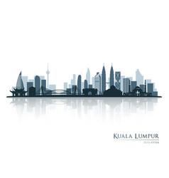 Kuala lumpur blue skyline silhouette vector