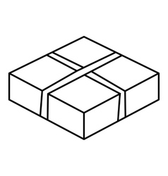 Level box icon outline style vector