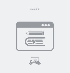 Library online - web icon vector