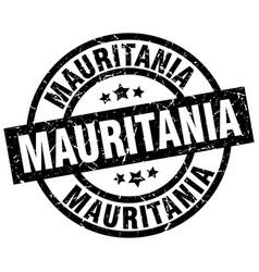 mauritania black round grunge stamp vector image vector image