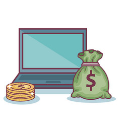 money-related objects design vector image
