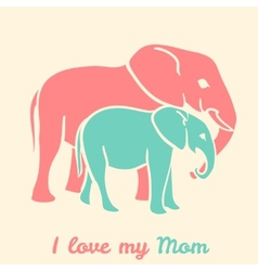 Mothers day elephants vector image