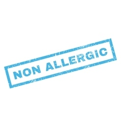 Non Allergic Rubber Stamp vector image