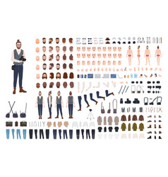 Photographer constructor set or diy kit vector