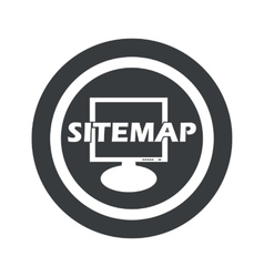 Round black sitemap sign vector