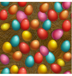 seamless background happy easter holiday with vector image