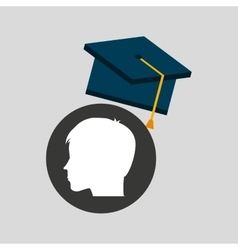 Silhouette head boy student achievement vector