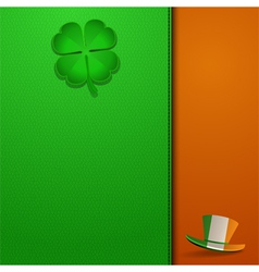 St Patricks Day leather background vector image