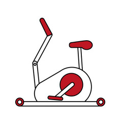 stationary bicycle sport flat vector image