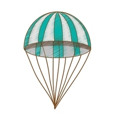 Striped parachute icon image vector