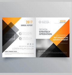 Stylish booklet brochure template design vector