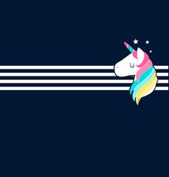 sweet unicorn for print design vector image
