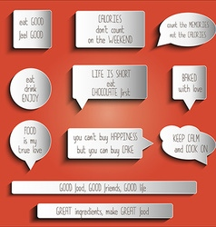 Tags labels buttons stickers with message about vector