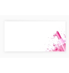 Template design card background with lipstick vector image