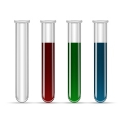 Test tubes filled with various color blood vector