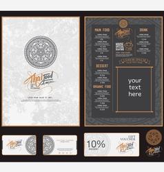 thai food restaurant menu template vector image vector image