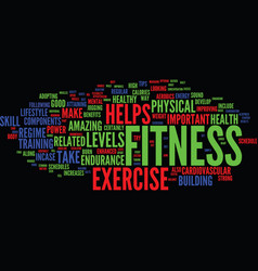 The best components of skill related fitness text vector