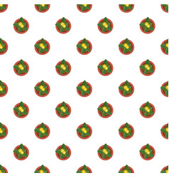 Top view plant pot pattern seamless vector