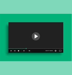 video media player in flat black style vector image