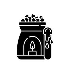 Wax warmer black glyph icon vector