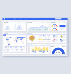 web dashboard great design for any site purposes vector image