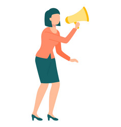 worker with megaphone attention equipment vector image