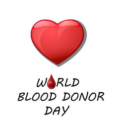 World blood donor day card vect ill vector