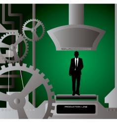 businessman production cut vector image vector image