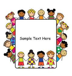 Cartoon kids and white poster vector image vector image