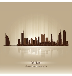 Dubai United Arab Emirates skyline city silhouette vector image vector image