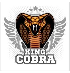 King cobra - mascot template design vector