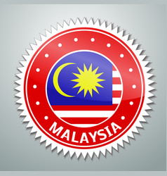 Malayan flag label vector image vector image