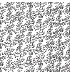 Seamless pattern with cartoon physalis vector image