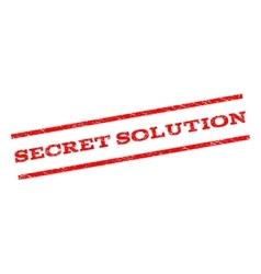Secret solution watermark stamp vector