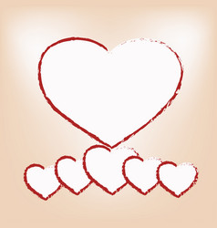 white hearts vector image