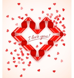 Heart symbol frame of red vector image vector image