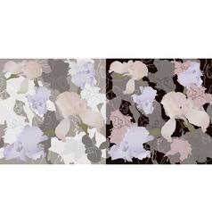 Irises seamless vector image vector image
