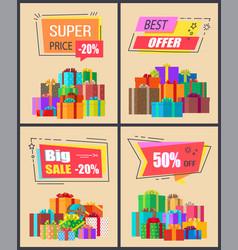 super price -20 best offer vector image vector image