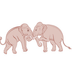 thai traditional elephant painting vector image vector image