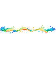 colorful splash horizontal design vector image vector image
