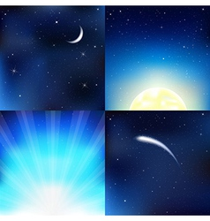 Dark Blue Sky vector image