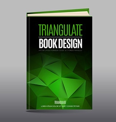 Modern abstract brochure as book cover vector image vector image
